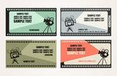 Cinema Tickets Set — Stock Vector