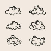 Vector set of Clouds — Stock Vector