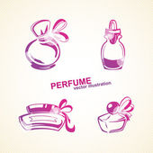 Perfumery set. Vector illustration — Stock Vector