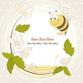 Cheerful bee. vector illustration — Vettoriale Stock