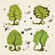 Set of stylized trees. — Stock Vector