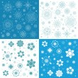 Backgrounds with snowflakes. — Stock Vector