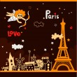 Stock Vector: Paris - city of love