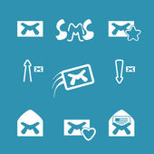 Set vector email icons. — Stock Vector