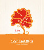 Love tree vector — Stock Vector