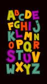 Kul alfabetet design. — Stockvektor