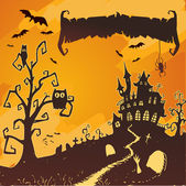 Halloween vector card. — Stock Vector