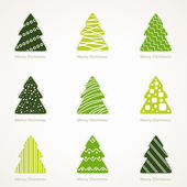 Kerstboom set — Stockvector