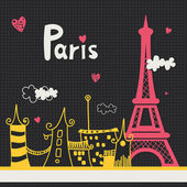Paris card design. — Stock Vector