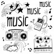 Sketchy music illustrations — Stock Photo