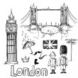 London vector set — Foto Stock
