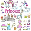 Hand-Drawn Princess Notebook — Stockfoto