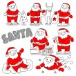 Santclaus set — Stock Photo #34715833