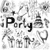 Doodle birthday element — Stock Photo