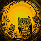Halloween illustration owl — ストック写真