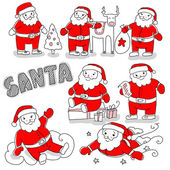 Santa claus set — Stock Photo