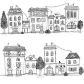 Panorama miasta kreskówka — Zdjęcie stockowe