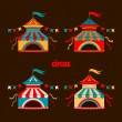 Collection of tents for the circus — Stock Vector #34715085