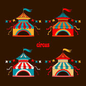 Collection of tents for the circus — Stock Vector