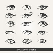 Stylized set of eyes — Stock Vector