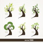 Gestileerde bomen. — Stockvector