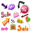 Set of Sale signs — Stock Photo