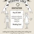 Wedding card — Stockvectorbeeld