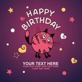 Cute happy birthday card — Vetorial Stock