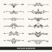 Set of vintage design elements for page border — Stock Vector