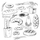 Bread icons — Stock Photo