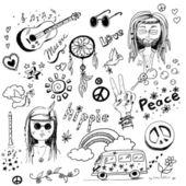 Hippy set — Stock Photo