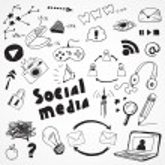 Social media signs — Stock Vector