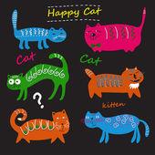 Söta katter — Stockvektor