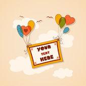 Banner on balloons — Stock Vector