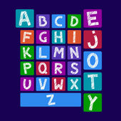 Alfabet blokken — Stockvector