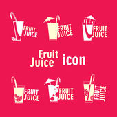 Fruit Juice icons — Stock Vector