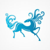 Blue horse — Stock Vector