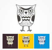 Owl icons — Stock Vector