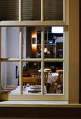 Window Into Restorant — Foto Stock