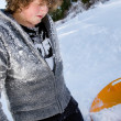 Young guy in snow — Stock Photo