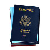 Stack of passports — Stock Photo