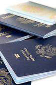 Closed and opened passports — Stock Photo