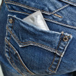 Stock Photo: Condom in back pocket