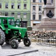 Tractor on construction site — Stock Photo
