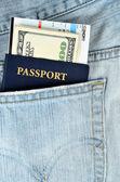 Passports and money — Photo