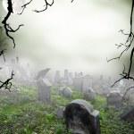 Spooky graveyard — Stock Photo