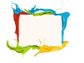 Colored splashes frame — Stock Photo
