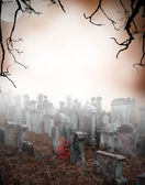 Spooky friedhof — Stockfoto