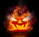 Burning pumpkin — Foto Stock