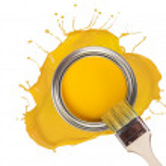 Yellow paint — Stock Photo